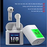 Tai nghe bluetooth M6 Plus tích hợp đo nhiệt độ cơ thể, bluetooth 5.0, chống nước IP4, nghe nhạc và đàm thoại phù hợp cho mọi loại điện thoại ( hàng chính hãng )