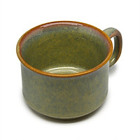 02 Cốc cà phê trung chân thấp  Đông Gia -  màu men  hỏa biến tự nhiên xanh xà cừ 37