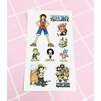 Set 5 Bảng hình xăm One Piece Sticker Tattoo