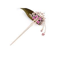 Trâm cài tóc nữ cổ trang xòe hoa thả điệp phong cách Trung Quốc