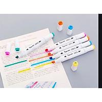 Bộ 24 bút màu dạ quang kèm túi đựng