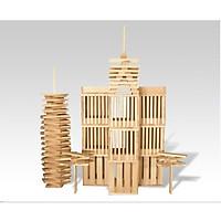 300 Thanh gỗ mộc giúp bé sáng tạo mô hình hoặc chơi rút gỗ chơi Domino
