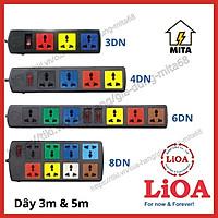 Ổ cắm điện LiOA đa năng - 3 lỗ, 4 lỗ, 6 lỗ, 8 lỗ dây dài 3m/5m - Chính Hãng - MITA