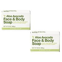 Combo 2 bánh Xà phòng rửa mặt và cơ thể Avocado Face and Body Soap (#284)- 142gr/cục