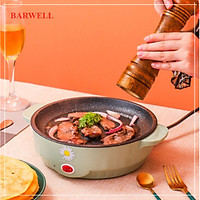 Bếp Nướng/Nồi Nướng Điện BARWELL DAISY Hình Tròn Không Khói Chống Dính Đa Năng Kích Thước 22x7x18cm- Hàng Chính Hãng