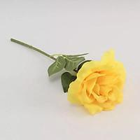 Hoa giả-Cành Hoa hồng Đơn Màu Vàng
