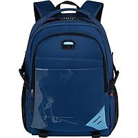 Edison Middle School Student Bag Men's Large Capacity Waterproof Backpack Junior High School College Leisure Sports Backpack K026-2 Blue