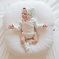 Gối chống trào ngược cho bé Rototo Bebe chất liệu đặc biệt Ripple gợn sóng - Trằng Ripple