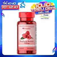 Thực Phẩm Chức Năng - Viên Uống Hỗ Trợ Giảm Cân An Toàn, Ngăn Chặn Tích Tụ Chất Béo Puritan's Pride Raspberry Ketones (60 Viên)