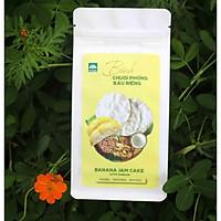 Bánh chuối phồng sầu riêng Tư Bông túi giấy 100gr- Món ngon hương vị sầu riêng- Đặc sản Đồng Tháp