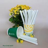 [GIẤY TỪ MÍA][AgroLife] Phi 12mm - 250 ống hút giấy có cắt xéo - Ống hút giấy từ sợi mía 100% phân hủy sinh học, thân thiện với môi trường - An toàn cho sức khoẻ - Đạt chuẩn xuất khẩu