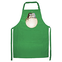 Tạp Dề Làm Bếp In Hình Vợ chồng nhà cú - DV013 – Màu Xanh