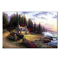 Tranh Treo Tường TIẾNG SÓNG XÔ BỜ TRONG NẮNG SỚM Q6D8-7 (40 x 60 cm) Thế Giới Tranh Đẹp