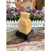 Ấn Rồng phong thủy đá ngọc Hoàng Long - Cao 15 cm