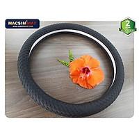 Bọc vô lăng cao cấp Mercedes chất liệu da thật - Khâu tay 100% size M-nhãn hiệu Macsim mã 8991