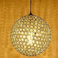 Đèn thả pha lê hình cầu