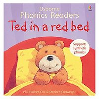 Usborne Ted in a red bed