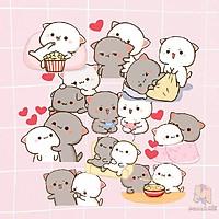 Miếng Dán Stickers In Hình Mochi Mochi