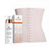 Bộ sản phẩm tan mỡ bụng Truesky gồm 1 kem tan mỡ bụng quế gừng 100ml & 1 đai nịch bụng quấn nóng cao cấp