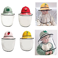 4pcs Baby Double Protection Hat With Face Cover Dustproof Anti-Spitting L