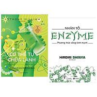 Combo 2 cuốn: Cơ Thể Tự Chữa Lành: Nước Ép Cần Tây + Nhân Tố Enzyme - Phương Thức Sống Lành Mạnh / Bộ sách giúp tăng cường sức khỏe