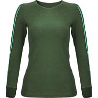 Áo T-shirt Nữ  có Bo Tay_Yvette LIBBY N'guyen Paris_YVETTE COOL WT2 _Màu Xanh rêu (Greenery)_Cotton Mélange hữu cơ (Organic)