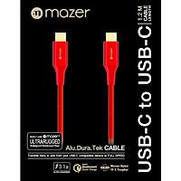 Dây Cáp Mazer ALU.DURA.TEK USB-C to C Cable 3.1A (1.2m) - hàng chính hãng