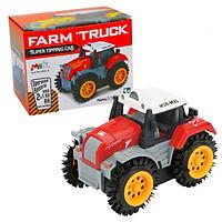 Đồ chơi mô hình xe tải nông trại KAVY chất liệu nhựa nguyên sinh an toàn, chạy pin ( màu đỏ)