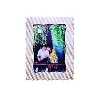 Khung hình giấy Fairy Corner hoạ tiết sọc nâu kích thước 13×18 (dạng đứng để bàn)