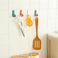 Móc nhựa chữ J dán tường treo đồ dùng nhà bếp phòng tắm bàn làm việc, trang trí decor nhà cửa( Màu ngẫu nhiên) - 3 móc