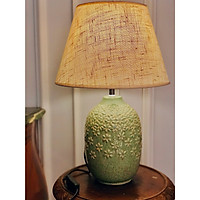 Đèn bàn gốm sứ cao cấp màu xanh lá DY16606