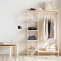 Giá Tủ Treo Quần Áo Gỗ Phối Kệ Double Hanger Size M Nội Thất Kiểu Hàn BEYOURs