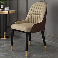 Ghế ăn bọc da cao cấp phong cách Châu Âu ( Giao màu ngẫu nhiên ) Mặt đệm da cao cấp, chân sắt sơn tĩnh điện - Chống thâm nước, chống trầy T381