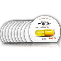 Combo 10 Mặt nạ giấy dưỡng da trắng sáng và làm đều màu da BNBG Vita Genic Whitening Jelly Mask (Vitamin C) 30ml x 10