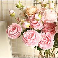 Hoa Lụa Trang Trí Loại Hoa Hồng Mẫu Đơn Được Nhiều Yêu Thích