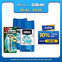 Tặng Dao Cạo Râu Gillette Vector 3 Khi Mua Gel Khử Mùi Gillette Clear Gel Arctic Ice 107 Ml Và Gel Khử Mùi Gillette Clear Gel Cool Wave 107 Ml