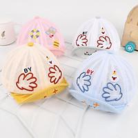 Cartoon Baby Baseball Cap Summer Mesh Newborn Girl Boy Sun Hat Soft Brim Infant Adjustable Caps