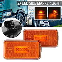 2x 24V LED Side Marker Indicator Light For SCANIA 5 6 Series P R Cabs G T Series