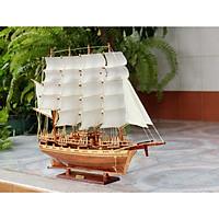 Mô hình thuyền buồm gỗ trang trí France II thân tàu 60cm, trang trí nhà cửa - phòng khách - bàn làm việc, quà tặng tân gia - sinh nhật - khai trương