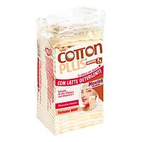 Bông Tẩy Trang Cotton Plus 2 Trong 1 Chiết Xuất Dầu Argan - Vitamin E (50 Miếng)
