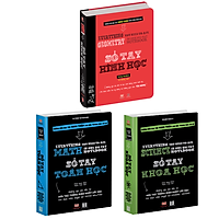 Sách - Sổ tay toán học, sổ tay khoa học, sổ tay hình học - Sổ tay học tập - Á Châu Books ( Bộ 3 cuốn, Tiếng Việt )