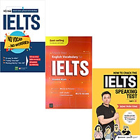 Combo 3 Cuốn Sách : No Vocab + Check Your English Vocabulary For Ielts + How To Crack The IELTS Speaking Test - Part 1