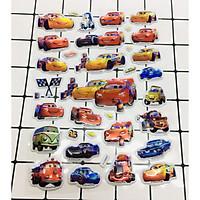 Hình Dán Ôtô, xe hơi sticker Nổi 3D set 2 bảng ( 50 miếng ảnh )