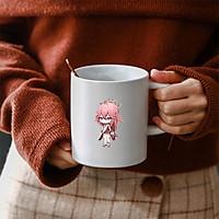 Cốc sứ trắng in hình nhân vật YAE MIKO game GENSHIN IMPACT anime chibi dễ thương xinh xắn