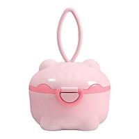 Milk Powder Storage Box Portable Pig Shape Toddler for Travel Activities pink L