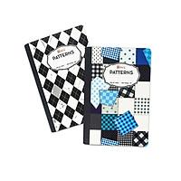 Bộ 2 sổ kẻ ngang 420 trang Patterns 4552