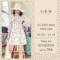 Đầm thiết kế hoa tím hồng Donna Dress Gem Clothing SP006182