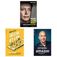 Combo 3 cuốn: Đế Chế Kỳ Lân: Uber, Airbnb Và Cuộc Chiến Tạo Lập Thung Lũng Silicon Mới + Jeff Bezos Và Kỷ Nguyên Amazon + Tesla Tương Lai Và Những Điều Viễn Tưởng