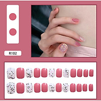 Bộ 24 móng tay giả nail thơi trang như hình (R-102)
