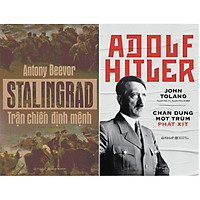 Combo Chiến Tranh Thế Giới Thứ 2: Một Trận Chiến Định Mệnh Và Một Nhà Độc Tài Tiêu Biểu ( Stalingrad: Trận Chiến Định Mệnh + Adolf Hitler: Chân Dung Một Trùm Phát Xít ) tặng kèm bookmark Sáng Tạo